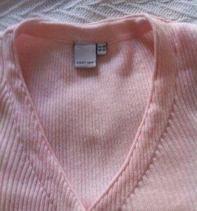 Нежно-розовое трикотажное платье(новое Lost ink)