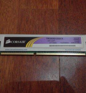 ОЗУ 1гб DDR3 1333Mhz Corsair TR3X3G1333C9