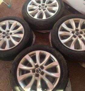 Продам комплект колёс от Mazda CX-5 (диски+шины)