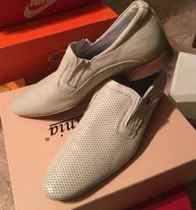Туфли мужские, кожаные, летние, новые 41 размер.