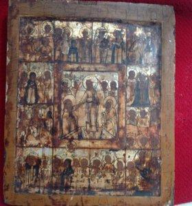 Икона Воскресение Христово.18 век. Ковчег