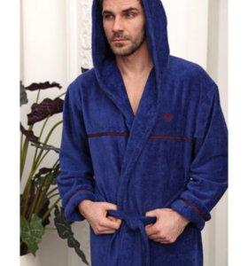 Продается мужской халат с капюшоном Турция