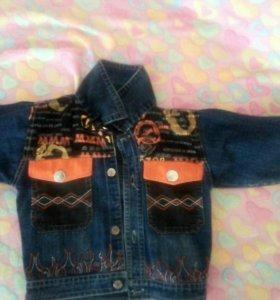 Джинсовая курточка 116-122см