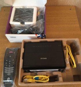 ТВ приставка и wi-fi роутер