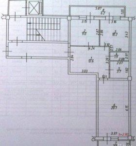 Квартира, 2 комнаты, 58.1 м²
