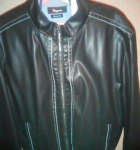 Куртка кожаная ,,brioni,, xl .новая