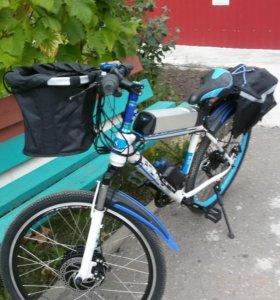 Велосипед горный с мотор-колесом