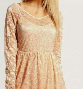 46-48р новое платье из гипюра (кружевное)
