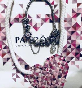 Pandora + шармы размер 19 см