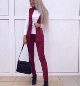 Костюм (замшевый) брюки и жилет