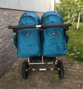 Коляска tfk twist twinner duo ocean blue с автокре