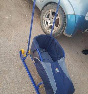 Санки на колесах