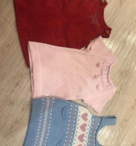Фирменные платья для девочки 2-3г