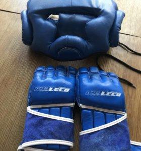Шлем, 2 пары перчаток, защита ног боксерский мешок