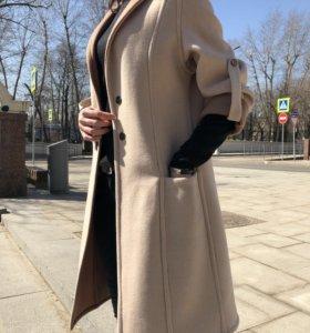 Пальто женское двустороннее из натуральной шерсти