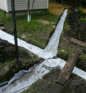 дренаж и бетонирование