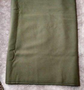 отрез сукна военного зеленого, морской волны