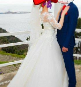 Свадебное платье +фата