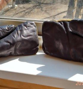 военные рукавицы из натурального меха