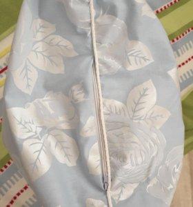 Подушка с наполнителем лузги гречки.