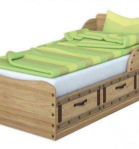 Кровать с матрасом для детской комнаты