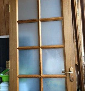 Двери деревянные б/у (входная и межкомнатные)