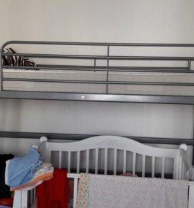 Двухъярусная кровать икеа.