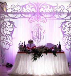 Оформление свадьбы тканями, цветами , шарами