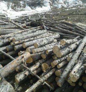Лес дрова бревна необработанные