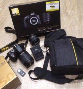 Nikon D5200 18-105 мм плюс 50 мм