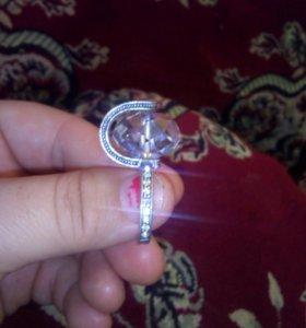 Кольцо , серебро