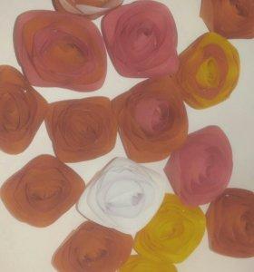 Искумственные объемные цветы