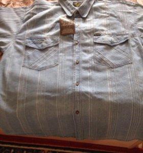 Джинсовая рубашка 60-62