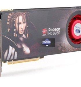 Видеокарта Radeon hd 6950. 2 Gb, 256 bit