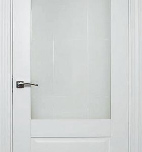 Дверь пластиковая REHAU полустекло