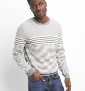 Пуловер серый GAP XL