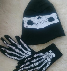 Шлем -балаклава +перчатки