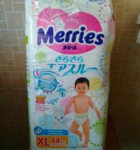 Подгузники Merries XL, 12-20 кг