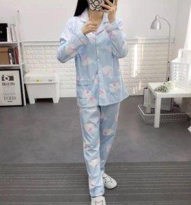 Пижама для беременных и кормящих новая!