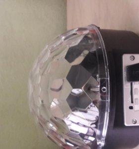 Музыкалный диско-шар с пультом
