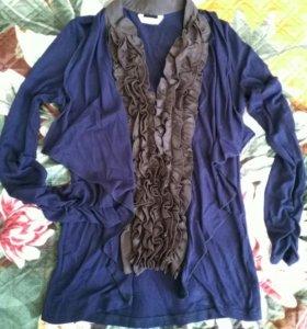 Кардиган с блузкой