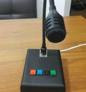 Микрофон с пультом на гусиной шее на 4 зоны