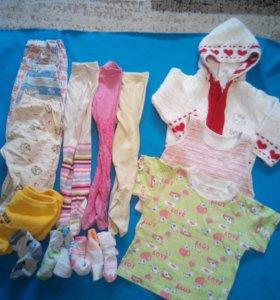 Вещи на девочку 68-80 размер