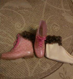 сапоги резиновые для девочки