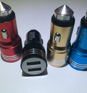 Зарядка АВТО USB 12-24 в + КАБЕЛЬ 3 В 1!