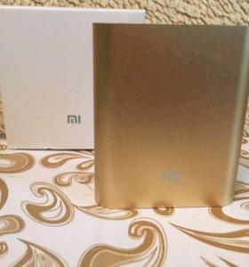 Новый power bank Mi 10400 mAh (золотой)