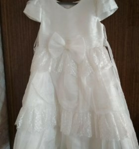 Платье детское с накидкой, б/у на 7 лет