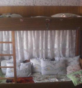 Двухярусная подросковая кровать