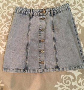 Летняя джинсовая юбка !