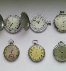 Карманные часы Молния, корпуса, крышки и др запчас